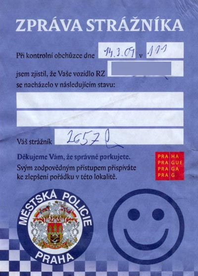A friendly smiley from the Czech police ;-)