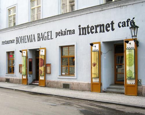 Bohemia Bagel in Old Town, Prague © Ricky Yates