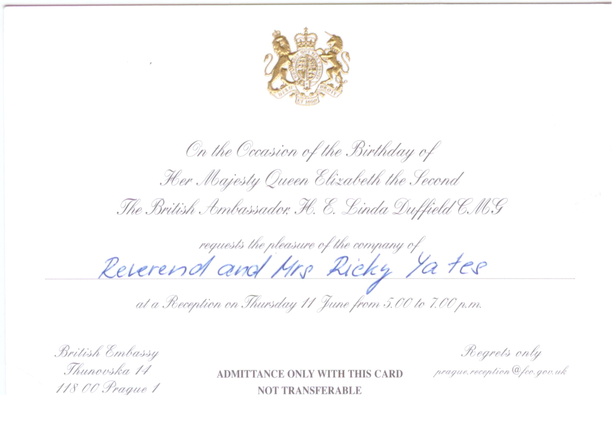 Celebrating the queens official birthday ricky yates our official invitation stopboris