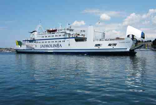 Jadrolinija Ferry arriving at Zadar © Ricky Yates