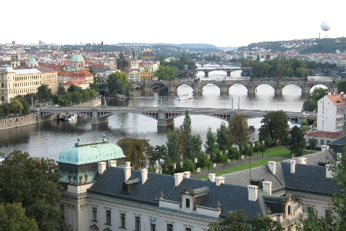 Bridges over the Vltava River, Prague, as seen from Letna © Ricky Yates