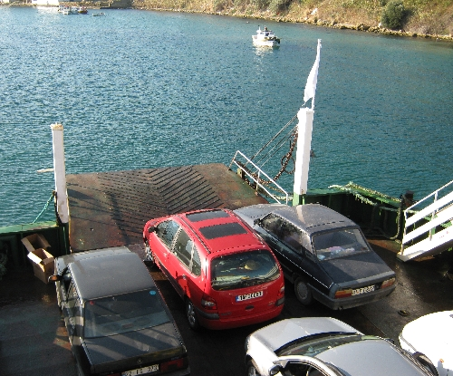 Our red Renault Scenic on the Dardanelles Ferry © Ricky Yates