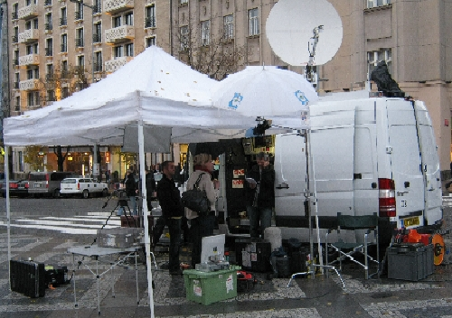 CNN News Crew in Wenceslas Square © Ricky Yates