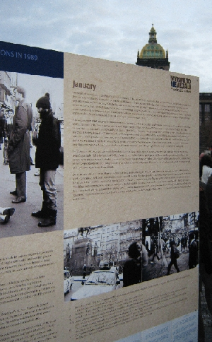 Display Board explaing the events of 1989 © Ricky Yates