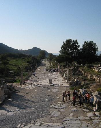 Road to the port, Ephesus © Ricky Yates