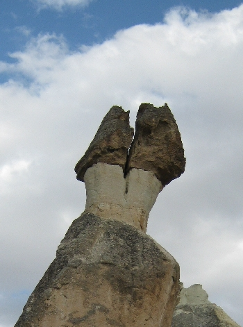 Divided Fairy Chimney in Cappadocia © Ricky Yates