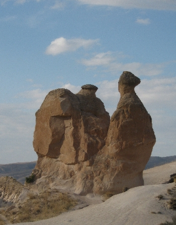 Fairy Chimneys in shape of a Swan © Ricky Yates