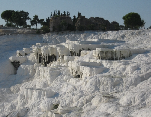 'Melting Ice Cream' on the hillside at Pamukkale © Ricky Yates