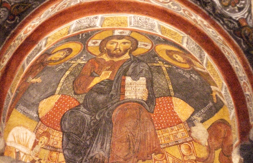 Christ Pantocrator taken in 2009 without flash © Sybille Yates