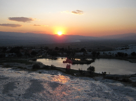 Sunset over Pamukkale © Ricky Yates