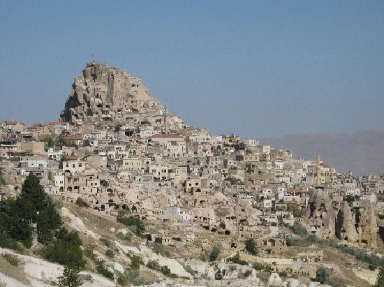 The village of Uchisar, Cappadocia © Ricky Yates