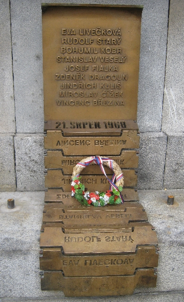 Memorial to the victims of the Soviet invasion of August 1968 © Ricky Yates