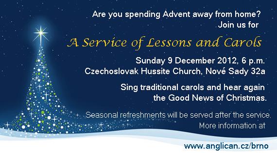 Brno Carol Service invitation
