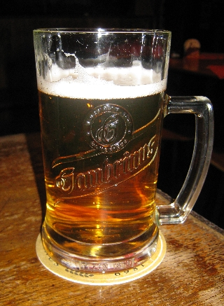 0.5 of a litre of Gambrinus Czech beer © Ricky Yates