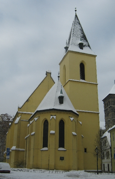 Kostel sv Kliment / St. Clement's Church in the snow © Ricky Yates
