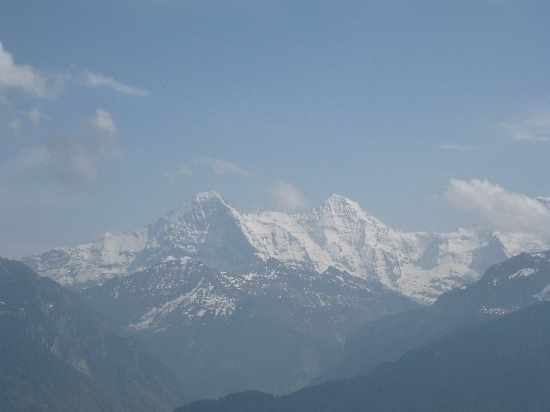 The Swiss Alps from my conference centre bedroom balcony © Ricky Yates