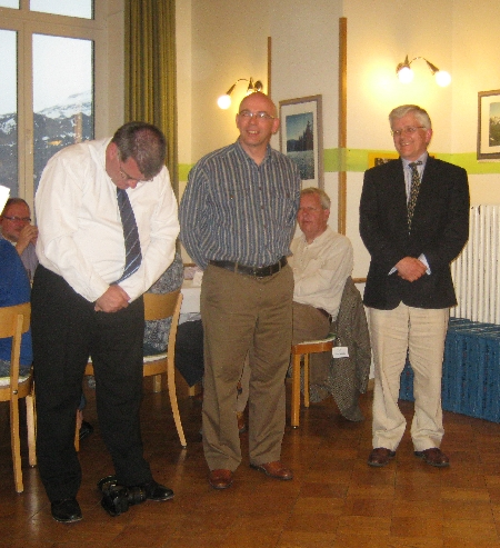 From l to r, Rev'd Richard Bromley, Rev'd Clive Atkinson, Ven Julian Henderson © Ricky Yates