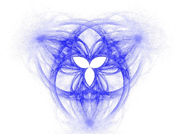 Fractal image of the Holy Trinity © Sybille Yates