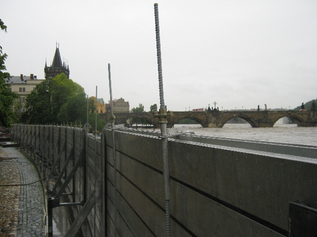 Flood defences and Charles Bridge © Ricky Yates