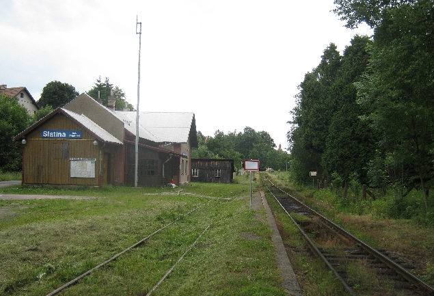 The railway station at Slatina nad Zdobnici © Ricky Yates