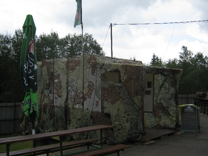 A refreshment truck at Tvrz Hanicka, covered with camouflage netting!  © Ricky Yates