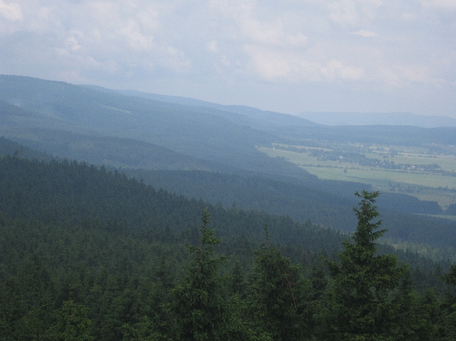 View across the Orlické hory from the summit of Anenský vrch © Ricky Yates