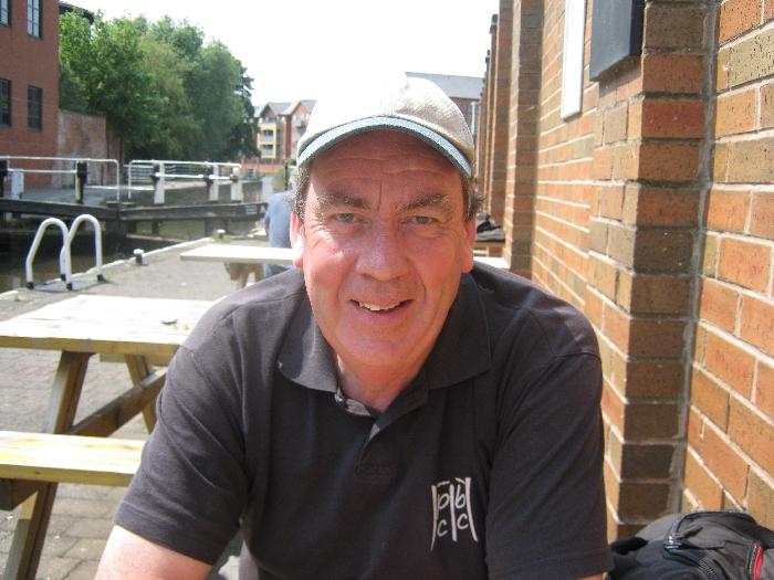 Me sitting alongside Castle Lock on the Nottingham Canal © Ricky Yates
