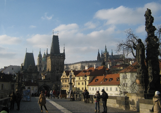 A rare sight - Charles Bridge with hardly any tourists! © Ricky Yates