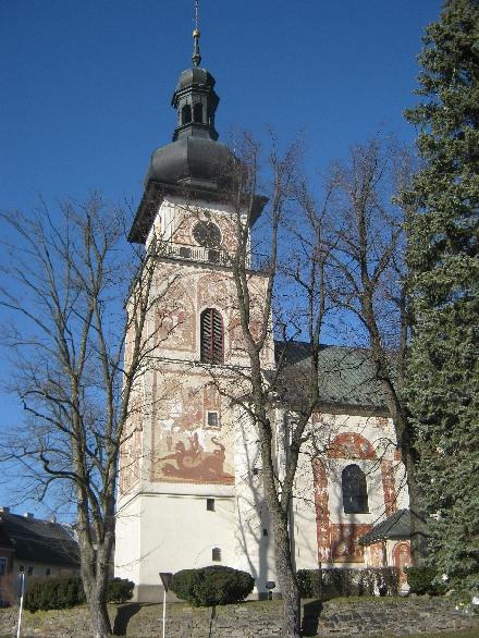 The tower of the Church of St. Kunhuta, Nové Mesto na Morave © Ricky Yates