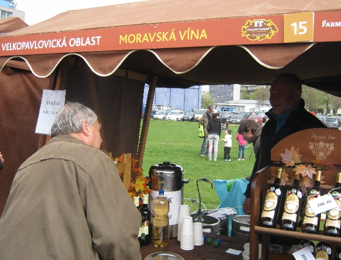 Stall selling Moravian wine © Ricky Yates