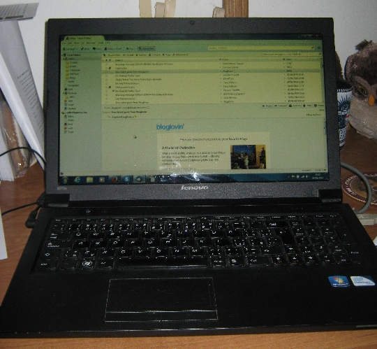 My laptop working again © Ricky Yates