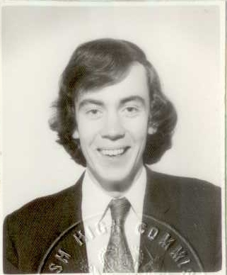 My passport photograph from 1974
