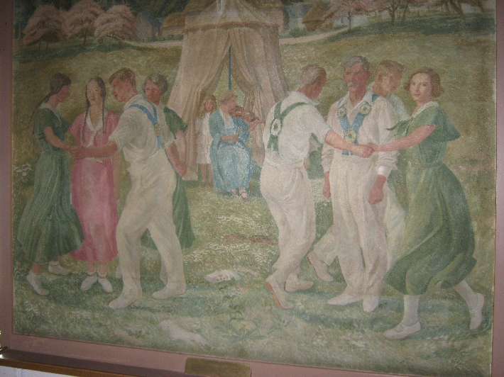 Country dancing mural © Ricky Yates