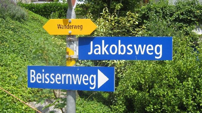The street called 'Jakobsweg' © Ricky Yates