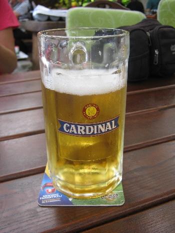 Cardinal beer © Ricky Yates