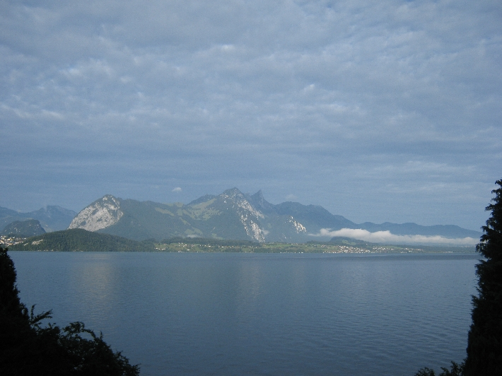 View across the Thunersee from Merligen © Ricky Yates