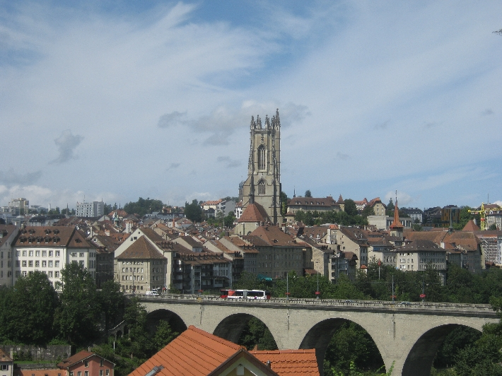 Fribourg with the Cathedral of St. Nicholas © Ricky Yates