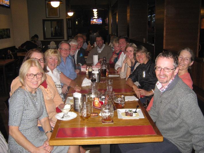 Synod members at Bar-Restaurace Pod Juliskou © Ricky Yates