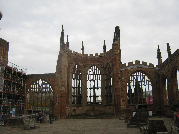 The ruins of the original mediaeval Coventry Cathedral © Ricky Yates