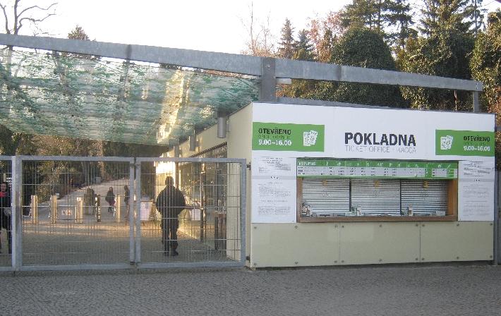 The main entrance to Prague Zoo © Ricky Yates