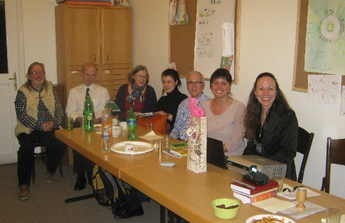 Part of our Lent Study Group, with Dr Hana Tonzarová on the right © Ricky Yates