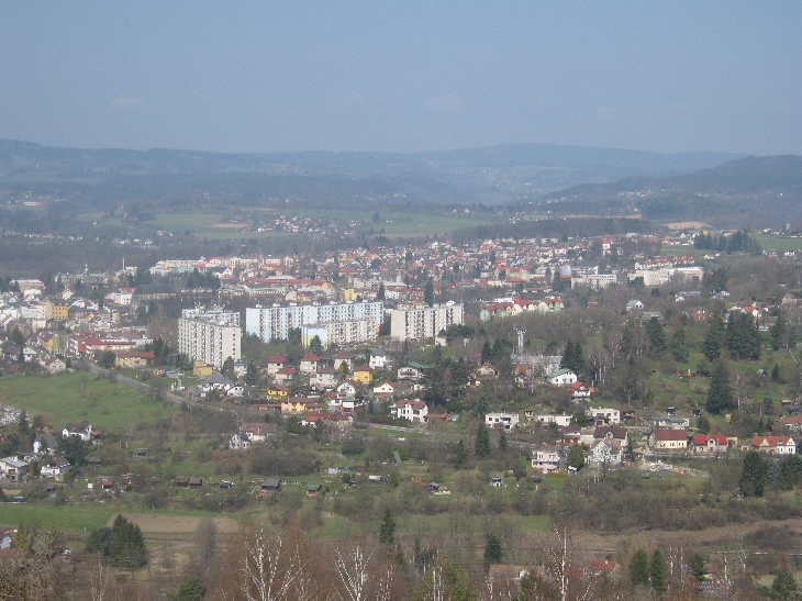 Turnov as seen from the top of the Hlavatice rock tower © Ricky Yates