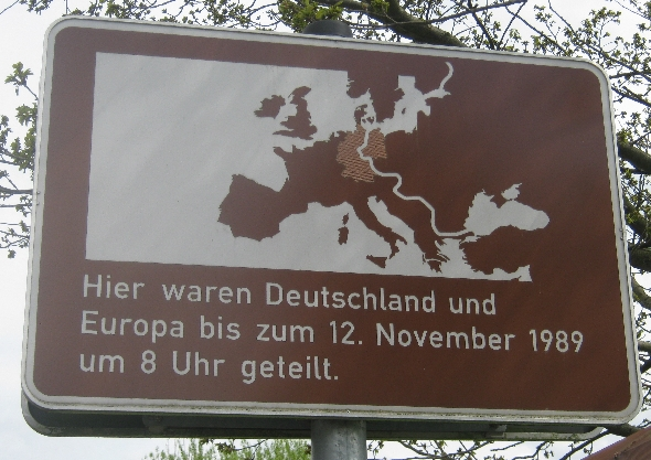 Here Germany & Europe were divided until 08.00, 12th November 1989 © Ricky Yates