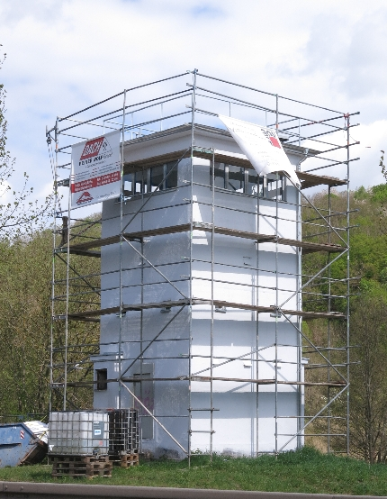 East German watchtower under renovation! © Sybille Yates