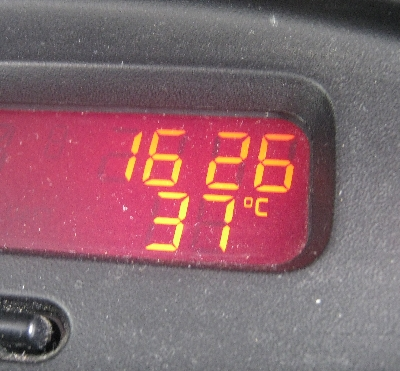 The temperature in Prague today © Ricky Yates