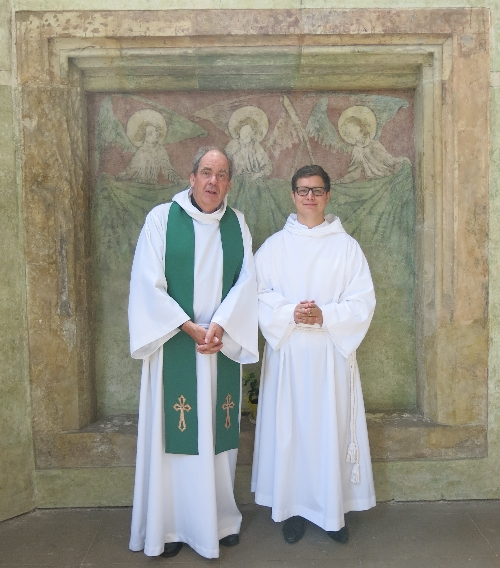 Lea with me in the chancel of St Clement's Church © Sybille Yates