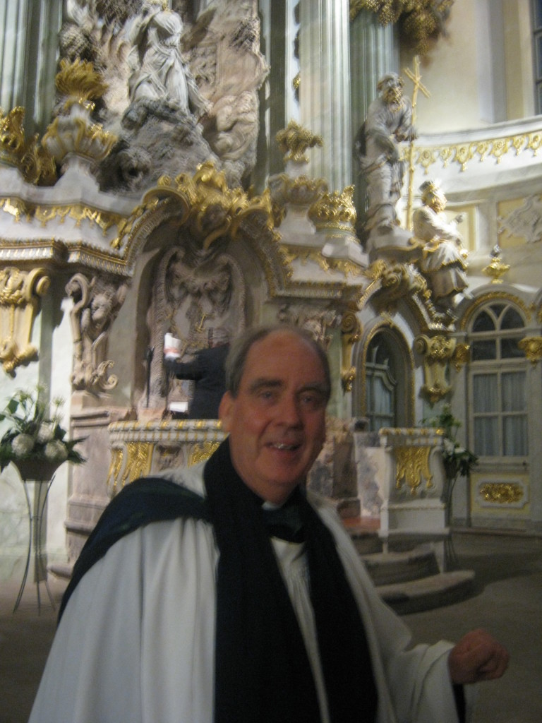 Yours truly in the Frauenkirche following the service © Ricky Yates