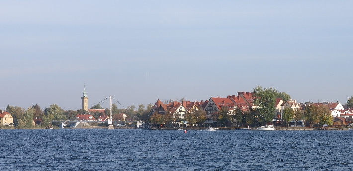 Mikolajki from Lake Mikolajskie © Sybille Yates