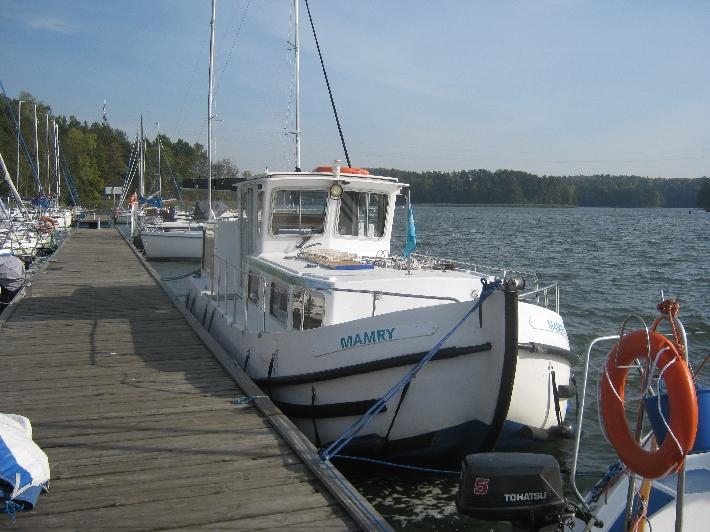 'Mamry' moored at Pod Debem Marina © Ricky Yates