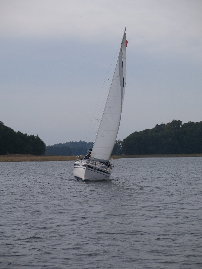 Yacht on Lake Mamry © Sybille Yates